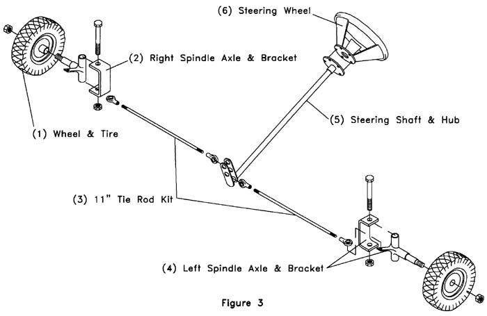 figure3 build your own go kart front wheel steering assembly go kart diagram at alyssarenee.co